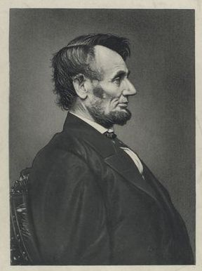 Taken by Alexander Gardner on February 9, 1864. This photograph would serve as the image that engraver Victor David Brenner would use to create the bas relief of Lincoln used on the penny.
