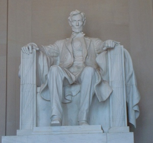 Lincoln statue at the Lincoln Memorial