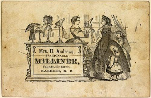 Willian's of Pennsylvania Avenue, Washington's best known milliner at the time, made Mary Todd Lincoln's bonnets. Unfortunately, he also made bonnets for Mrs. Horatio Taft.