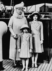 Queen Mary with granddaughters, the Princesses Margaret Rose and Elizabeth