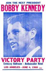 Bobby Kennedy California Primary Victory Party at the L.A. Ambassador Hotel, June 5, 1968, the night of his assassination