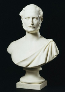 Bust of Prince Albert, Minton & Co. from the original sculpture portraits by Carlo Marochetti (1805 - 67), England, Original sculpture 1851, made 1862.
