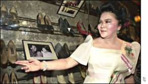 The world's bestknown shoe collector, former Philippine First Lady Imelda Marcos, has opened the Marikina City Footwear Museum in Manila in which most of the exhibits are her own footwear.