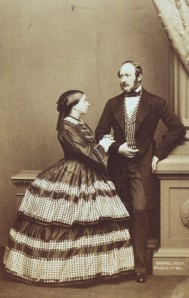 British Queen Victoria and Prince Albert, 1861