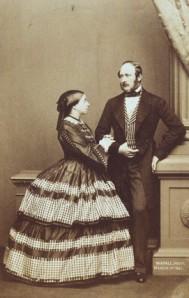 British Queen Victoria and Prince Albert, 1861