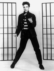 "Elvis in his 1957 film, ""Jailhouse Rock"""