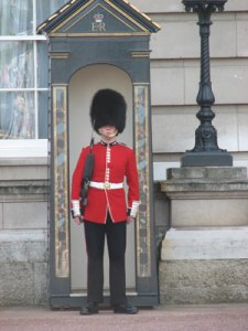 A guard at Buckingham Palace