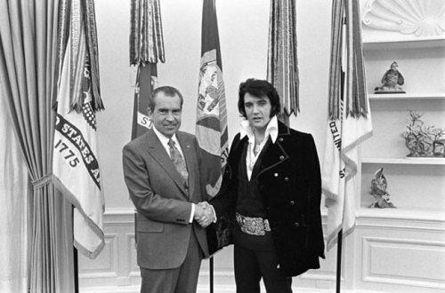 President Richard Nixon received Elvis Presley in the Oval Office, Dec. 21, 1970