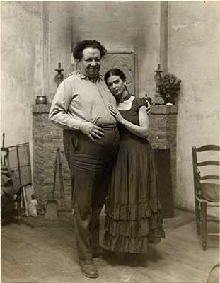 Artists Diego Rivera and Frida Kahlo