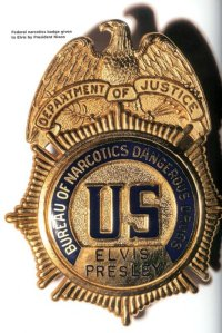 Badge presented to Elvis Presley deputizing him as a special agent of the Bureau of Narcotics and Dangerous Drugs