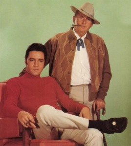 "Elvis Presley with his manager, the notorious ""Colonel Parker"""