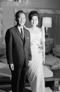 President-elect Ferdinand and wife Imelda Marcos, December, 1965, Manila, the Philippines