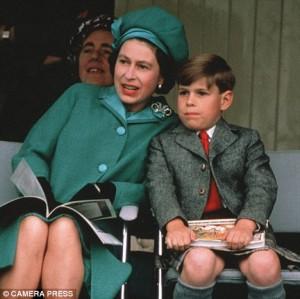 Queen Elizabeth II with son Prince Andrew when he was 7.