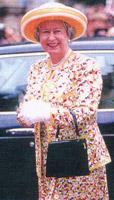photo of Queen Elizabeth II on the Launer company website