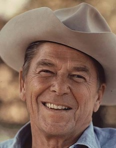 Ronald Reagan in a cowboy hat, circa 1976