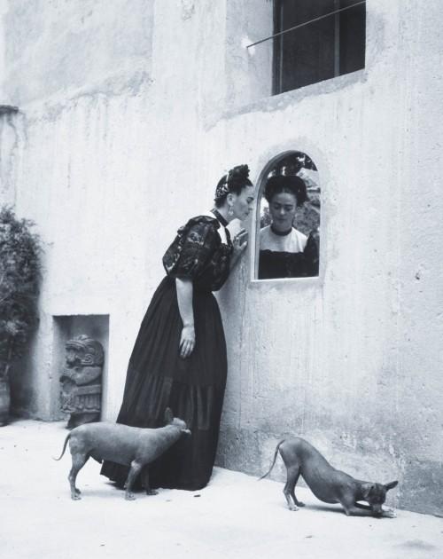 """Frida Kahlo and her Itzcuintli Dogs,"" photo by Lola Alvarez Bravo, 1944"
