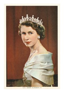 the newly-crowned Queen Elizabeth II