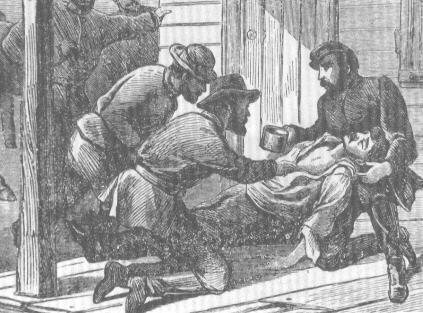 Lincoln assassin John Wilkes Booth was pronounced dead at 7:15 A.M. April 26, 1865. He was not killed instantly. He lingered near death on the grass then later on the porch of the Garrett farmhouse in Virginia (illustrated here). After his death, a search of his body turned up a pair of revolvers, a belt and holster, a knife, some cartridges, a file, a war map of the southern states, a spur, a pipe, a Canadian bill of exchange, a compass with a leather case, a signal whistle, an almost burned-up candle, photos of five women - four actresses (Alice Grey, Helen Western, Effie Germon, and Fanny Brown) and his fiancée, Lucy Hale (the daughter of ex-Senator John P. Hale from New Hampshire), and an 1864 date book kept as a diary.