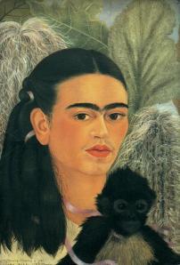 """""""Fulang-Chang and I"""" by Frida Kahlo, 1937. Fulang-Chang was Frida's favorite spider monkey."""
