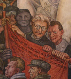 "In this 1934 Diego Rivera mural, ""Man, Controller of the Universe,"" Leon Trotsky makes an appearance."