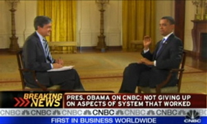 In an interview with John Harwood of CNBC, President Obama swatted a fly, killing it. PETA condemned the president's fly murder.
