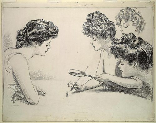 """The Weaker Sex, by Charles Dana Gibson, 1903"