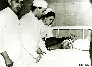 Leon Trotsky on his Deathbed, August 21, 1940