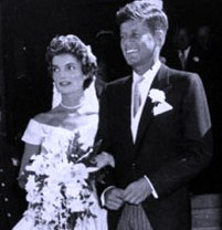 They were married on September 12, 1953, at St. Mary's Church in Newport, Rhode Island. The wedding was performed by Archbishop Richard Cushing. The wedding was considered the social event of the season with an estimated 700 guests at the ceremony and 900 at the lavish reception that followed at Hammersmith Farm.