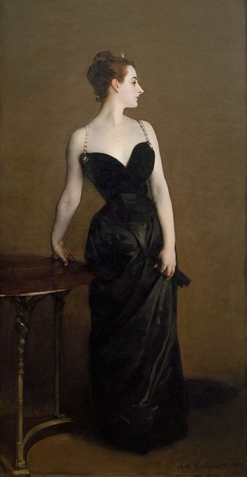 """Madame X"" by American portrait painter John Singer Sargent, 1884"