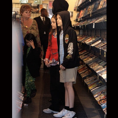 Michael Jackson's 3 children shop