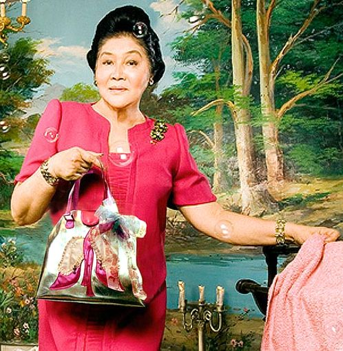 former First Lady of the Philippines Imelda Marcos debuts her new line of accessories, 2006
