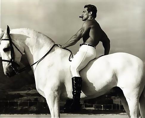 Arnold Schwarzenegger in Malibu, California, 1988, photographed by Annie Leibovitz
