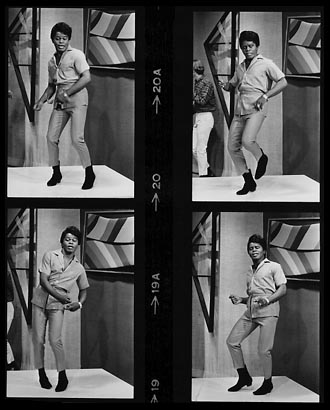 James Brown mixing the moves