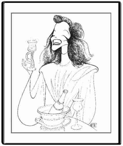 Katharine Hepburn by Hirschfeld