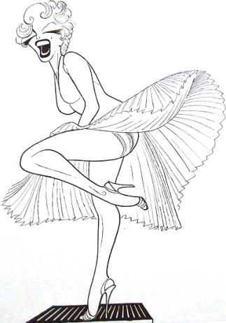 Marilyn Monroe, drawing by Al Hirschfeld