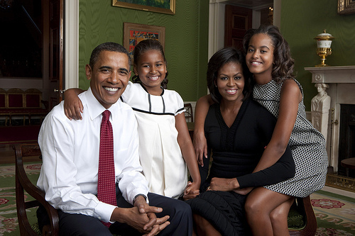 The Obama Family, the first official White House portrait shot by photographer Annie Leibovitz, Sept. 1, 2009