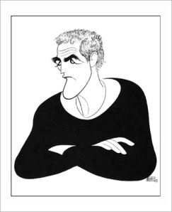 Paul Newman, drawing by Al Hirschfeld