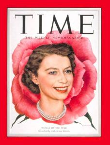 TIME magazine's 1952 Woman of the Year: Queen Elizabeth II of England (Jan. 5, 1953 cover)