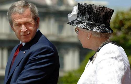 The Queen with President George W. Bush in 2003