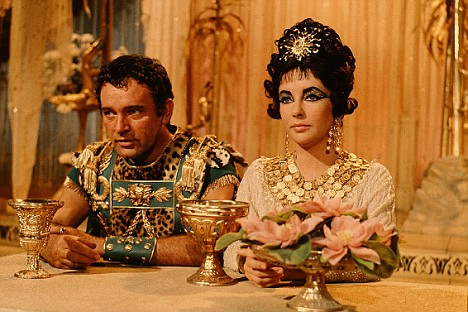 "Richard Burton as Mark Antony with Elizabeth Taylor as Queen of the Nile in ""Cleopatra"" (1963)"