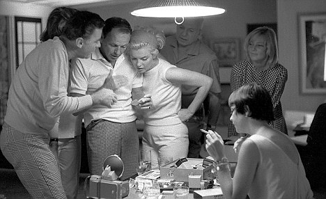to r.) Peter Lawford, Frank Sinatra, Marilyn Monroe, ca. 1961-62