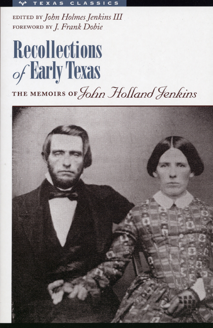 Texas pioneers John Holland Jenkins and Mary Jane Foster Jenkins