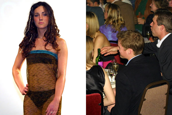 a revealing dress worn by kate middleton at a 2002 charity event email prince william. Both Kate and Prince William