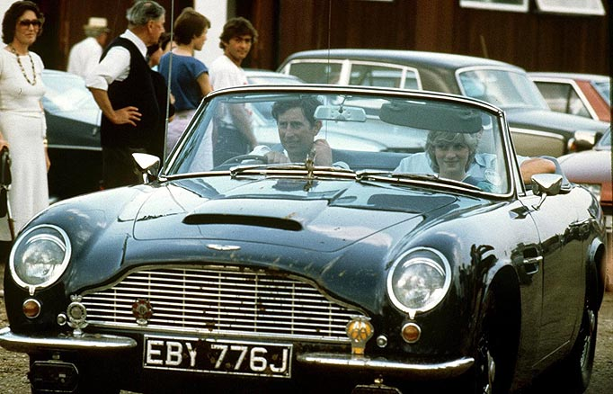 photos of Princess Diana in the Aston Martin | Lisa\'s History Room
