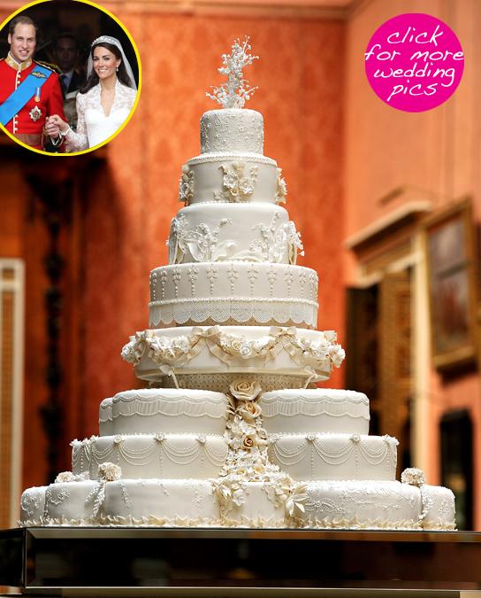 royal wedding 2011 cake. The eight-tiered wedding cake,