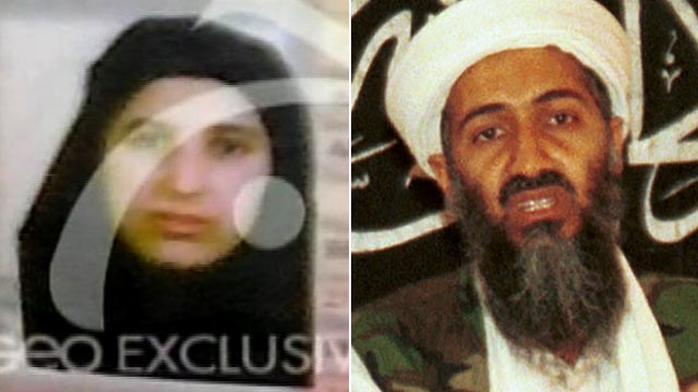 Bin laden and pm Vice. in laden wives.