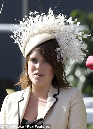 royal wedding hats_eugenie in feathers