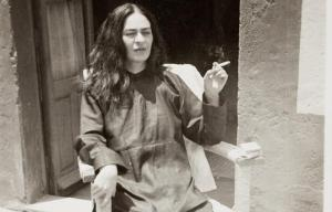 Frida Kahlo is seen smoking after a 1946 operation.
