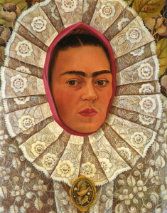 Frida Kahlo Self-Portrait, 1848, shows her dressed in traditional Tehuantepec costume.