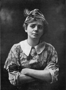 Maude Adams starred as Peter Pan in a 1905 British play. The collar on her costume, known as the Peter Pan collar, became popular.